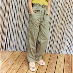 BDG Olive Green Paperbag Tie-Front Pants